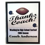 Football Thanks Coach Plaques