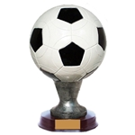 Large Soccer Ball Resin Trophy