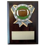 Football Ribbon Holder Plaques