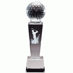Golf Male Sport Crystal Trophies