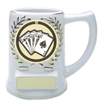Poker Ceramic Mug Trophies