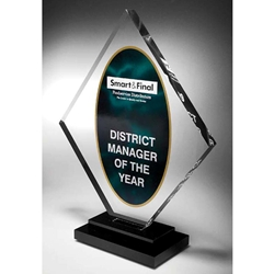 Radiant acrylic awards for Radiant plexiglass