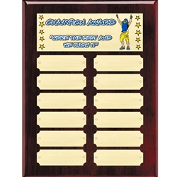 Fantasy Football Champion Perpetual Plaques