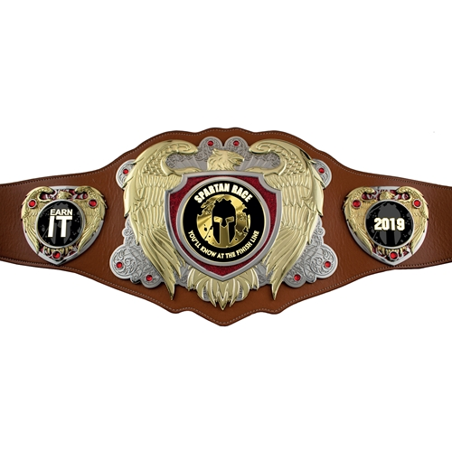 Express Medals Custom Champion Trophy Personalized Championship Leather Belt Champ