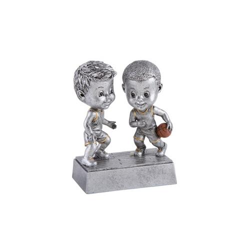 Basketball Male Double Bobblehead Trophy