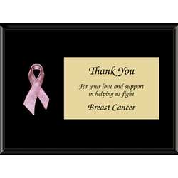 Pink Quot Breast Cancer Quot Awareness Ribbon Plaques