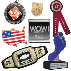 TrophyParter.com offers a variety of custom trophies and awards.