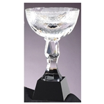 Crystal Trophy Cups on Black Base