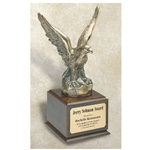 Large Jumbo Cast Metal Eagle Trophy