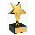Gold Plated Star Award Trophies