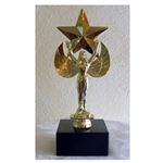 Female Victory Star Trophy on Marble