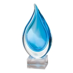 Blue Teardrop Glass Art Awards