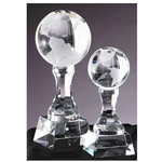 Crystal World Globe Trophies