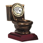 "Poker ""Last Place"" Toilet Trophy"