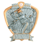 Male Baseball Sports Shield Trophies