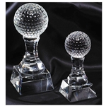 Golf Prism Optical Crystal Trophies