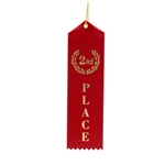 "2x8"" Red 2nd Place Ribbons"