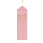 "2x8"" Pink 4th Place Ribbons"