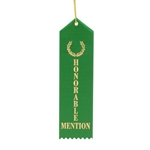 "2x8"" Green Honorable Mention Ribbons"