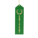 "2x8"" Green Participant Ribbons"