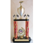 "20"" Pinewood Derby Red Flame Column Trophies"