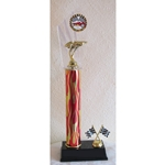 "17"" Pinewood Derby Red Flame Column Trophies"