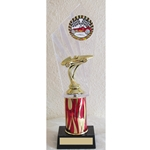 "11"" Pinewood Derby Red Flame Column Trophies"