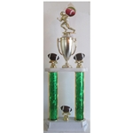 2-Tier Excellence Series Column Trophy with CHOICE OF FIGURE