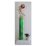 "17"" Excellence Series Column Trophy with CHOICE OF FIGURE"