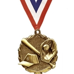 "1.75"" Gold Softball Medals"