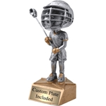 Male Lacrosse Bobblehead Trophies