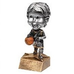 Male Basketball Bobblehead Trophy