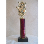 "12"" Majesty Series Column Trophy with CHOICE OF FIGURE"