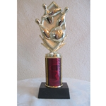 "9.75"" Majesty Series Column Trophy with CHOICE OF FIGURE"