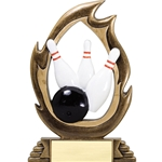Bowling Flame Trophies