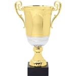 Gold with Silver Accent Italian Cup Trophies