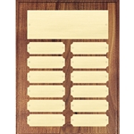 Walnut Perpetual Plaques - 12 Plate