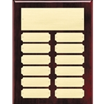 Rosewood Perpetual Plaques - 12 Plate