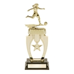 Soccer Female Star Snap Trophies
