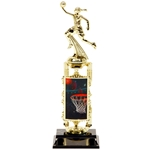 Female Basketball Atomic Lenticular Trophies