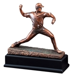 Baseball Pitcher Gallery Resin Trophy