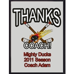 Thanks Coach Hockey Plaques