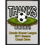 Thanks Coach Soccer Plaques