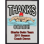 Thanks Coach Swimming Plaques
