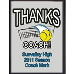 Thanks Coach Tennis Plaques