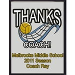 Thanks Coach Volleyball Plaques