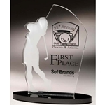 Golf Female Acrylic Awards