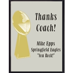 Lombardi Thanks Coach Football Plaque