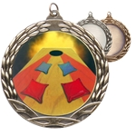 Cornhole Colored Insert Medals