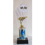 "11"" Pinewood Derby Blue Flame Column Trophies"